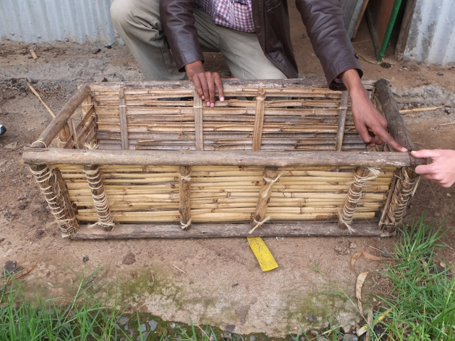 With a Eucalyptus wood frame and bamboo in lays the construction of this hive is not only locally appropriate but very affordable.