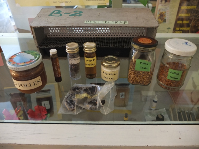 Wax, Propolis and Pollen are all being harvested as well as researched upon at the center