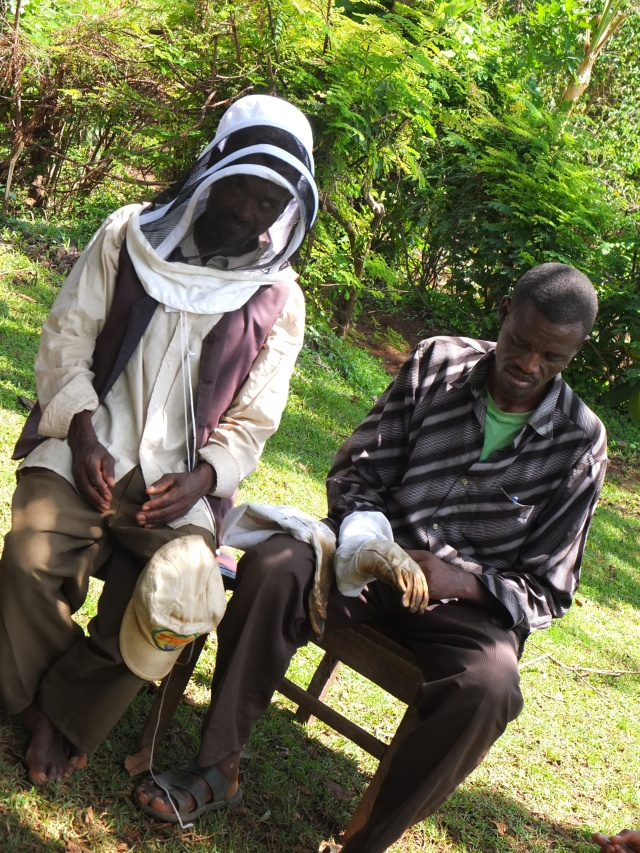 Beekeepers Trying on Protective Gear