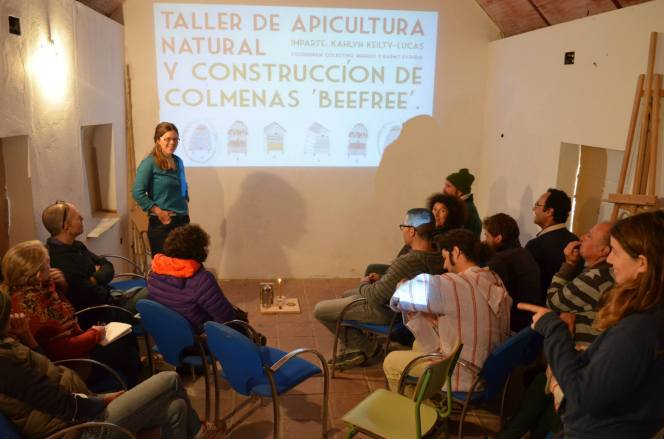 Natural Beekeeping Workshop and Construction of BeeFree Beehives. March 2015, Santa Lucia, Spain